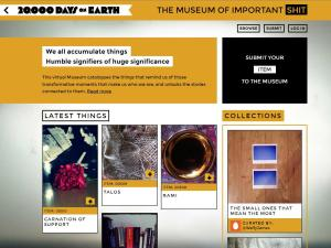 Homepage of the Museum of Important Shit